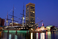 Baltimore World Trade Center and the Constellation.