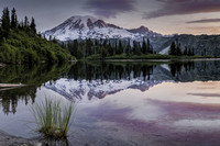 Sunrise on Bench Lake, Mt. Rainier National Park