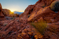 Sunset in the Valley of Fire