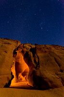 Midnight at Upper Antelope Canyon