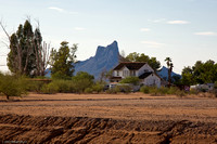 Old Farm House and Picacho Peak